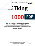 Cetking CET1000 Must Do 1000 Questions From Previous Years MBA MHCET Free eBook