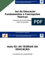 AS TEORIAS DA EDUCAÇÃO