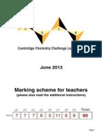 C3L6 Teachers Mark Scheme 2013