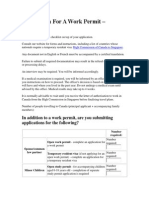 Application for a Work Permit