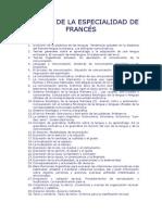 temario oposiciones francés secundaria