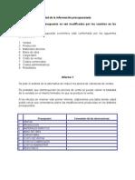 Sensibilidad presupuestaria 1° 2014