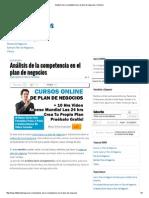 Análisis de La Competencia en El Plan de Negocios _ Artículo