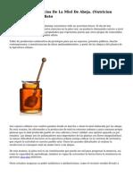 Conoce Los Beneficios De La Miel De Abeja. (Nutricion Ecuador) Proximo Reto