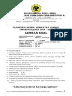 UAS Fisika 2014-2015 Kelas X Semester 1
