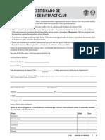 Dados Para Certificação de Interact Club