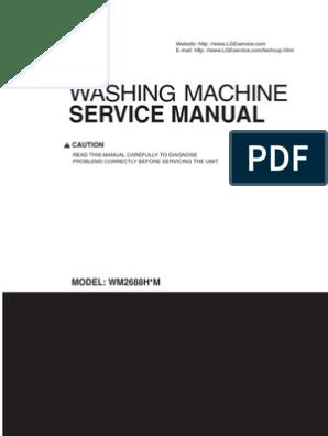 LG front load Washer WM2487H Service Manual | Washing Machine