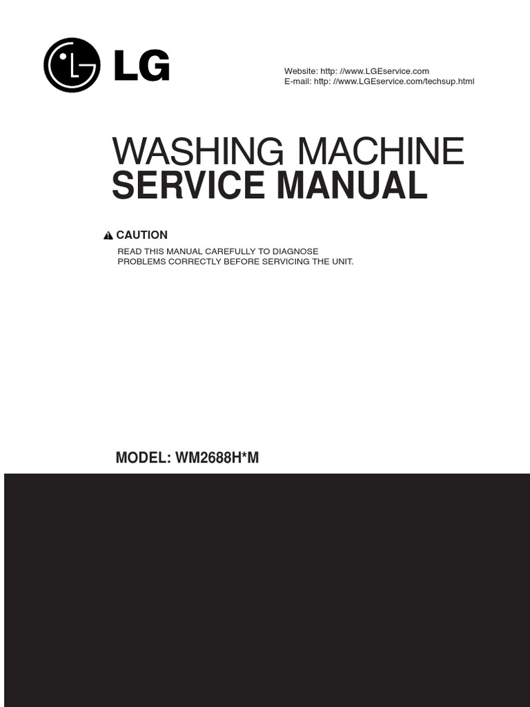 LG front load Washer WM2487H Service Manual | Washing Machine | Electrical  Connector