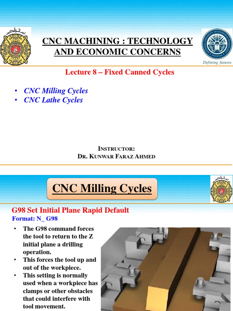 8 fixed canned cycles (cnc course cd) (1) pdf | Drilling