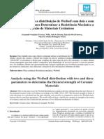 Análise Utilizando a Distribuição de Weibull Com Dois e Com Três Parâmetros para Determinar a Resistência Mecânica à Flexão de Materiais Cerâmicos-libre