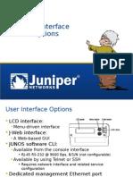 0 User Interfaces -SRX