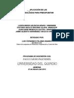 Metodologias Para Presupuestar 2015
