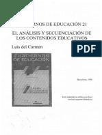 Del Carmen, Luis (1996) - La Utilizaciвn de Ideas-eje en La Estructuraciвn de Las Secuencias de Contenidos