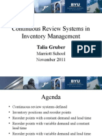 Continuous Review Inventory Systems