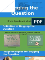 """""""Begging the Question"""" Logical Fallacy Presentation"""
