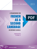 a framework for french as a second language