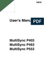 P403P463P553 UserManual English