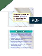 Como Presentar Informe de Investigacion de Mercado