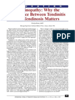 tendinopathy- why the difference between tendinitis and tendinosis matters