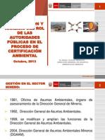 Rol de Las Autoridades Públicas en El Proceso de Certificación Ambiental Angel Chávez(1)