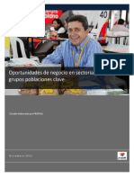 Oportunidades de Negocio Sectoriales Propais2013
