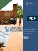 How Do Community Based Legal Programs Work