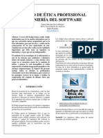 Informe codigo etica