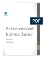 Problemas de Medición de La Pobreza en El Salvador. William Pleitez