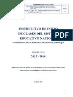 Instructivo de Inicio de Clases Costa 2015-2016