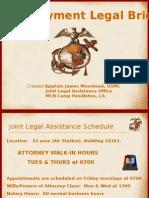 Legal Brief- Pre Deployment
