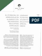 Potencialidades de Aprendizaje Alumnos Con Nee