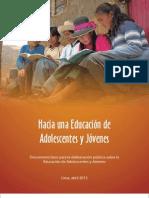 Hacia Una Educacion de Adolescentes y Jovenes 10 de JULIO 2013 en Baja
