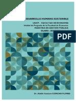 Silabo Desarrollo Humano Sostenible - Adolfo Gustavo CONCHA FLORES