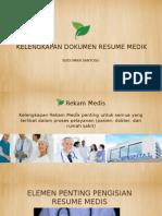 Kelengkapan Resume Medis