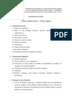 Program Língua Portuguesa