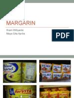 Presentasi produk turunan kelapa sawit berupa margarin