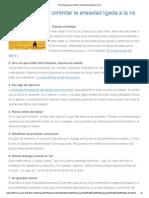 10 Consejos Para Controlar La Ansiedad Ligada a La Ira