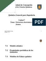 Unidad 7.1 - Estructura Atómica