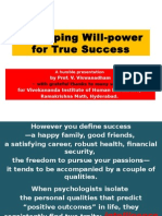 2015Mar28 - Developing Willpower for True Success - VIHE