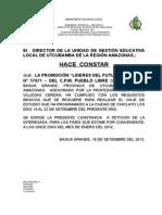 Constancia Autoriza Excursiones 2012
