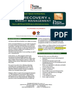 Debt Recovery and Credit Management 2 Days Public Program Course Brochure by ITrainingExpert.com 2014