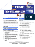 Managing Time and Increasing Efficiency at Work Public Program Course Brochure by ITrainingExpert 2015 Vt