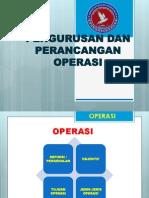 Pengurusan Dan Perancangan Operasi