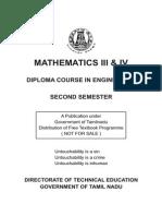Sem -2 - Engineering Maths -III & IV