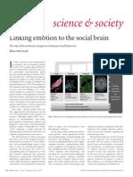 Linking Emotion to Social Brain