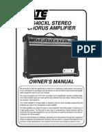 Crate - G40CXL_OM Manual