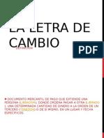Letra de Cambio - Diapo