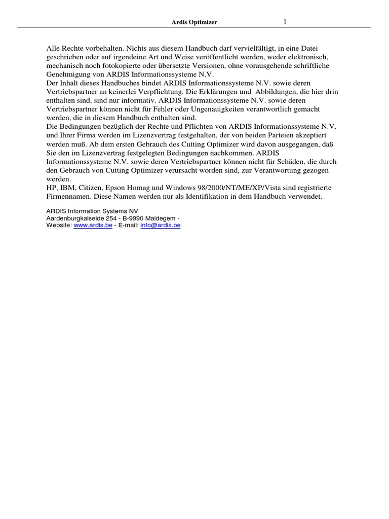 cowind installation computer programs license - Lizenzvertrag Muster