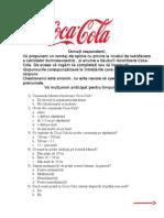 Chestionar Coca Cola