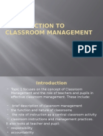 TOPIC 1 - Classroom Management - 2015